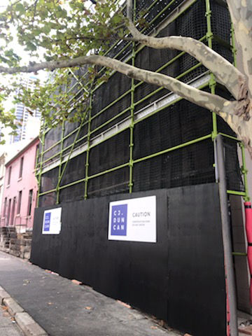 FACADE RECTIFICATION OF A HERITAGE LISTED TERRACE BUILDING IN THE ROCKS, SYDNEY IS UNDERWAY